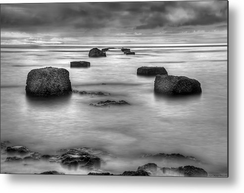 Landscape Metal Print featuring the photograph Phantom Pier by Ryan Wyckoff
