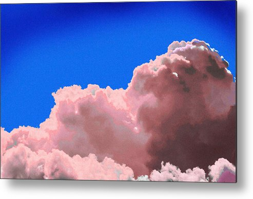 Cloud Metal Print featuring the photograph Pink Cluod by John Toxey