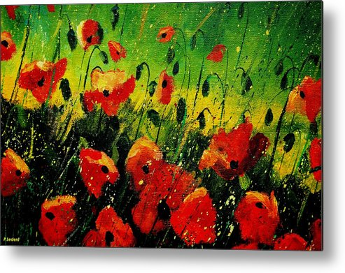 Poppies Metal Print featuring the painting Poppies Poppies by Pol Ledent