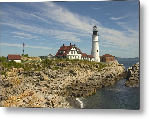 Lighthouse Metal Print featuring the photograph Portland Head Lighthouse by Mike McGlothlen