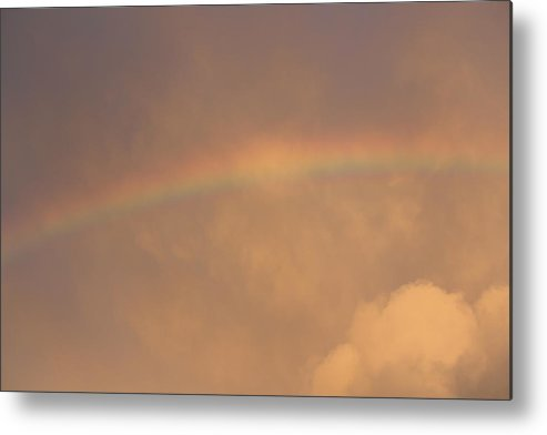 Rainbow Metal Print featuring the photograph Rainbow In Clouds by Donna Walsh