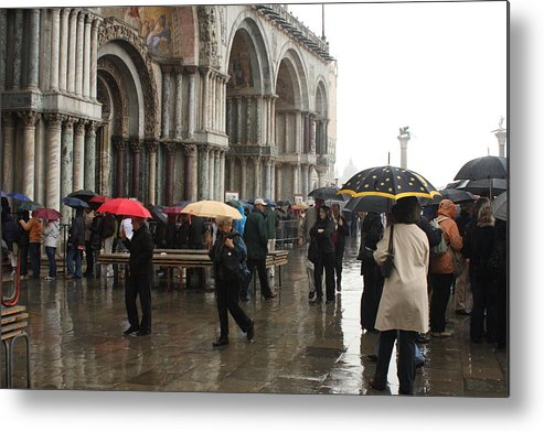 Venice Metal Print featuring the photograph Rainy Day In Venice by Michael Henderson