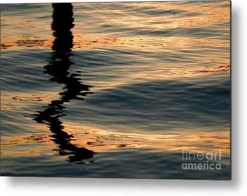 Water Metal Print featuring the photograph Reflections Abstract by DeeDee Yelverton