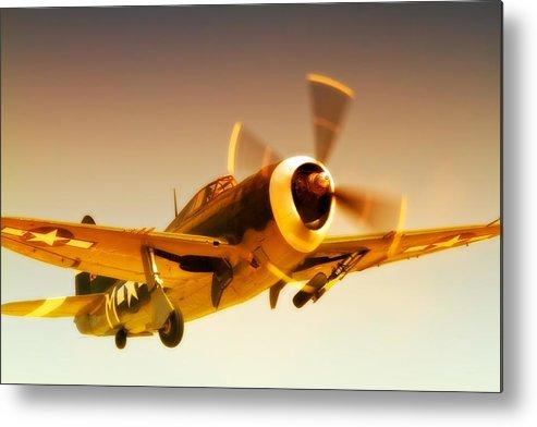 Airplane Metal Print featuring the photograph Republic P-47 Thunderbolt 2011 Chino Air Show by Gus McCrea