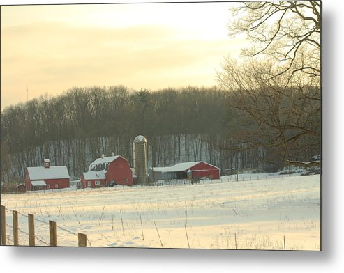 Barn Metal Print featuring the photograph Rural Sunset by B Rossitto