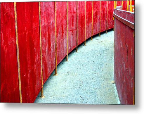 Photographer Metal Print featuring the photograph Safety Alley by Jez C Self