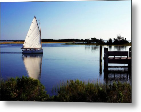 Beaufort Nc Metal Print featuring the photograph Saling On Glass by Alan Hausenflock