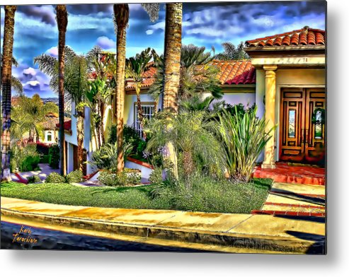 San Clemente Metal Print featuring the photograph San Clemente Estate 3 by Kathy Tarochione