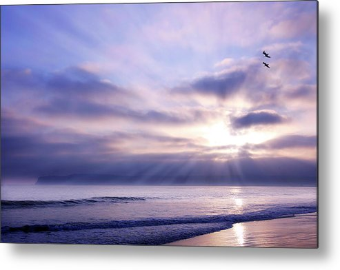 Beach Metal Print featuring the photograph San Diego Sunset 1 by Alan Hausenflock
