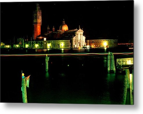 Venice Metal Print featuring the photograph San Georgio Maggiore In Venice At Night by Michael Henderson