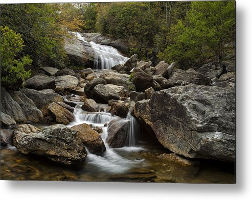 Waterfall Metal Print featuring the photograph Second Falls - Blue Ridge Falls by Andrew Soundarajan