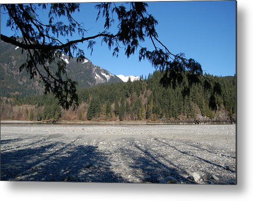 River Metal Print featuring the photograph Shadows On The Coquihalla River by J D Banks