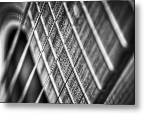 Guitar Metal Print featuring the photograph Six Strings by Scott Norris