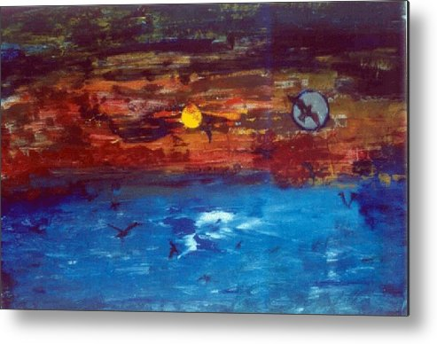 Soul Metal Print featuring the glass art Soul Journey.. by Rooma Mehra