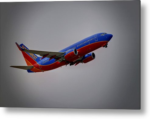 737 Metal Print featuring the photograph Southwest Departure by Ricky Barnard
