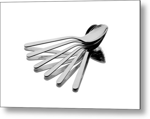 Abstract Metal Print featuring the photograph Spoon Fan by Gert Lavsen