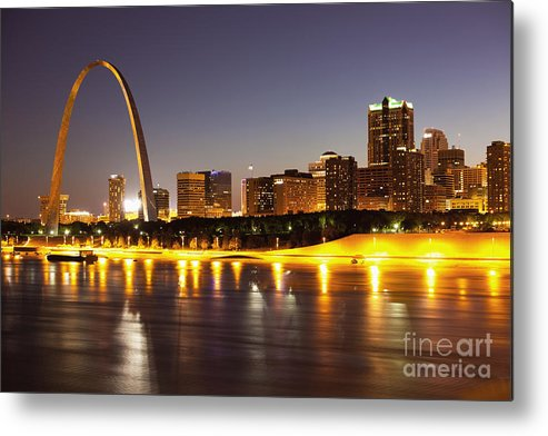 Arch Metal Print featuring the photograph St Louis Skyline by Bryan Mullennix
