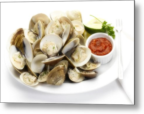 Steamed Clams Metal Print featuring the photograph Steamed Clams by Federico Arce