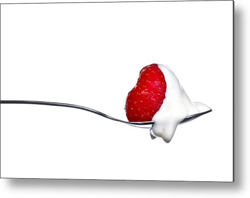 Aphrodisiac Metal Print featuring the photograph Strawberry And Cream by Gert Lavsen