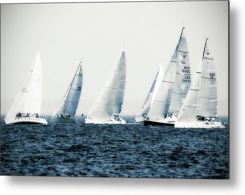 Photo Metal Print featuring the photograph Summertime Race 3 by Alan Hausenflock