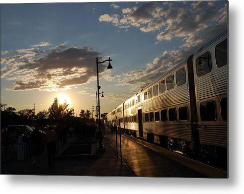 Trains Metal Print featuring the photograph Sunset Express by Daniel Ness