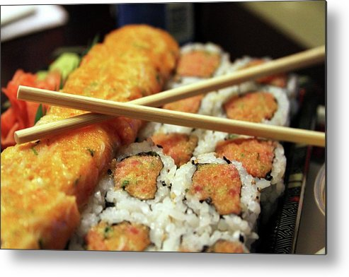 Sushi Metal Print featuring the photograph Sushi by Annee Olden