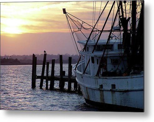 Photo Metal Print featuring the photograph Swansboro Shrimper by Alan Hausenflock