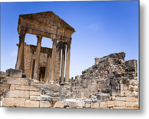 African Metal Print featuring the photograph Temple Of The Capitol V by Irene Abdou