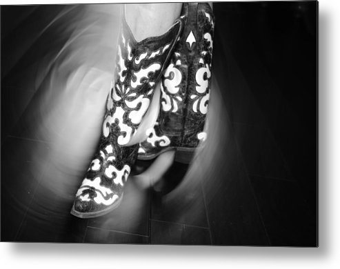 Texas Boots Metal Print featuring the photograph Texas Swing by Dale Davis