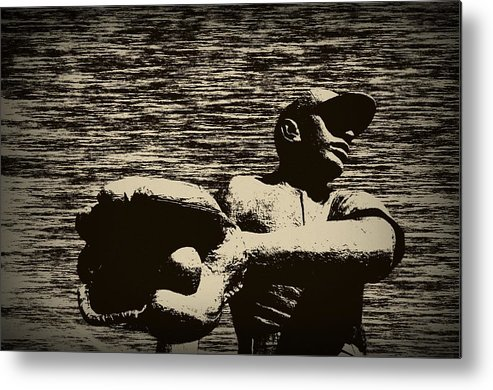 Baseball Metal Print featuring the photograph The Catch by Bill Cannon