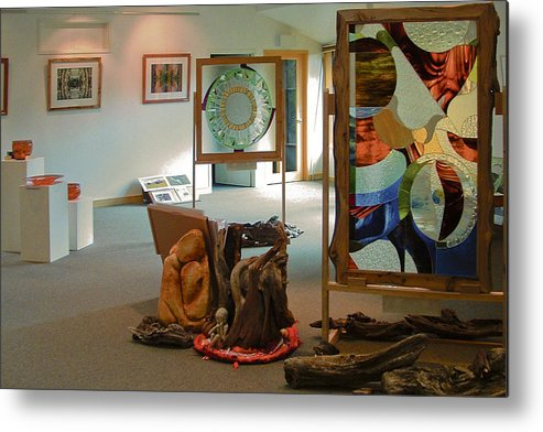 Gallery Metal Print featuring the mixed media The Cradle Mountain Information Center Gallery by Sarah King