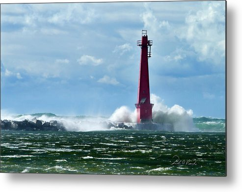Color Metal Print featuring the photograph The Gale Of October by Frederic A Reinecke