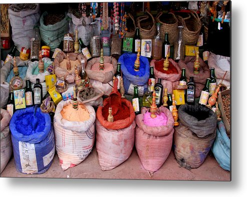 Chaouen Metal Print featuring the photograph The Goods by Jason Hochman