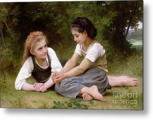 Nut Metal Print featuring the painting The Nut Gatherers by William-Adolphe Bouguereau