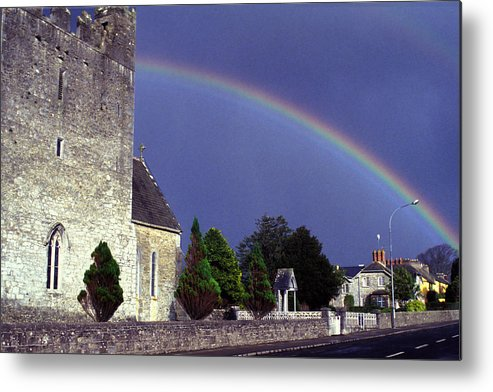 Rain Metal Print featuring the photograph The Perfect Rainbow by Carl Purcell