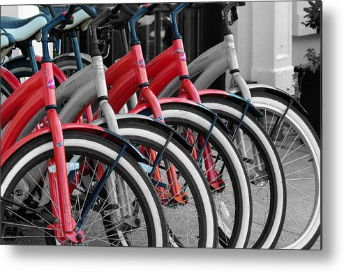 Black And White Metal Print featuring the photograph The Red One by Don Prioleau