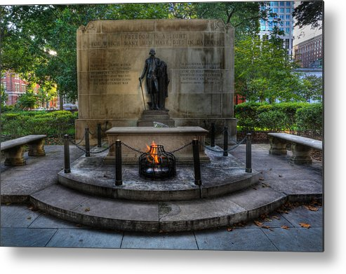 Lee Dos Santos Metal Print featuring the photograph Tomb Of The Unknown Revolutionary War Soldier - George Washington by Lee Dos Santos