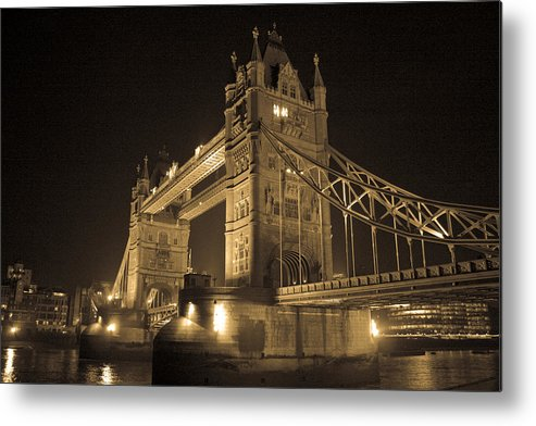 London Metal Print featuring the photograph Tower Bridge Of London by Joshua Francia