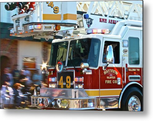 Fire Truck Metal Print featuring the photograph Tower by Rick Monyahan
