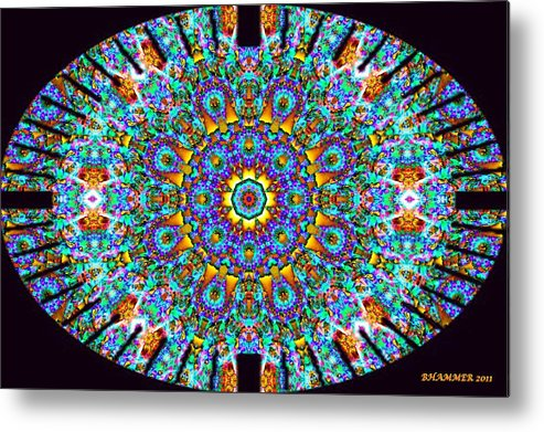 Colorful Metal Print featuring the digital art Tripping Down Memory Lane by Bobby Hammerstone