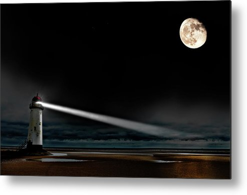Lighthouse Metal Print featuring the photograph Two Guiding Lights by Meirion Matthias