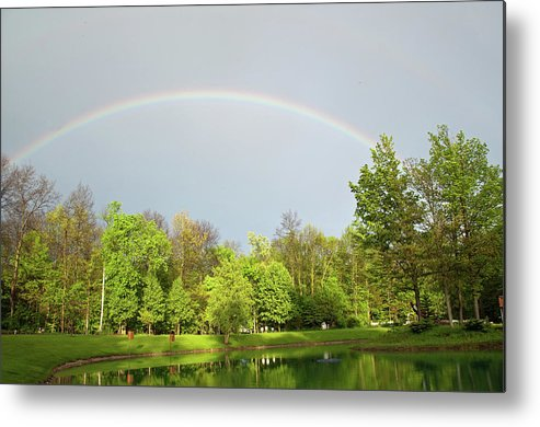 Rainbow Metal Print featuring the photograph Under The Rainbow by David Arment