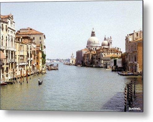 Venice Metal Print featuring the digital art Venice Grand Canal by Al Blackford