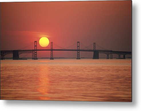 North America Metal Print featuring the photograph View From The Water Of The Chesapeake by Kenneth Garrett