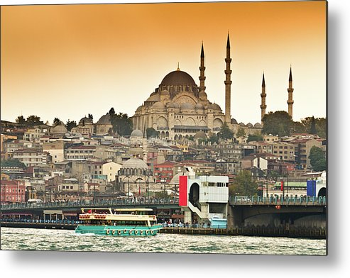 Horizontal Metal Print featuring the photograph View Of Istanbul by (C) Thanachai Wachiraworakam