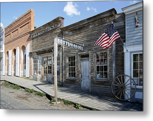 Montana Metal Print featuring the digital art Virginia City Ghost Town - Montana by Daniel Hagerman