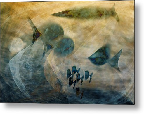 Fish Metal Print featuring the digital art Water World One by Gae Helton