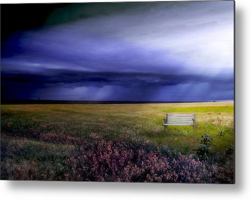 Prairie Metal Print featuring the photograph What If... by Yvonne Emerson