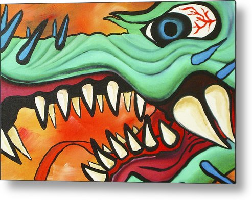 Dragon Metal Print featuring the painting Year Of The Dragon by Joseph Palotas
