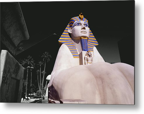 Photography Metal Print featuring the photograph Luxor Sphynx by Tom Fant
